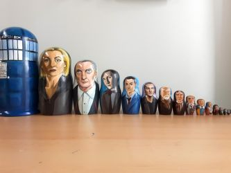 Doctor Who Nesting Dolls by bachel60