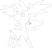 Lineart Of Shaymin In Sky Form By InuKawaiiLover