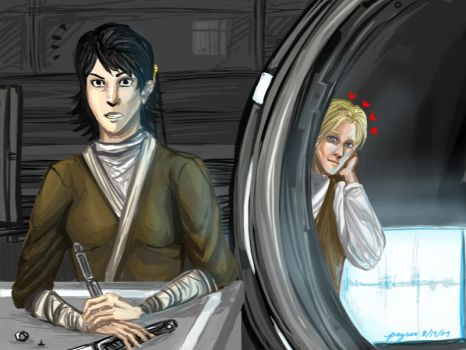 Admirer-KotOR2 Mical and Exile by PayRoo