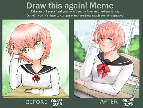Pink haired girl Redraw by Annington