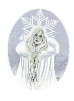 Emma Frost digital copic by VPdessin