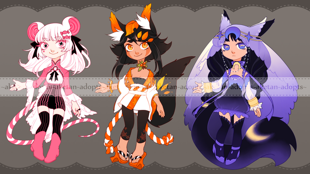 Sweet kemonomimi girls [OPEN - PRICE DOWN] by aketan-adopts