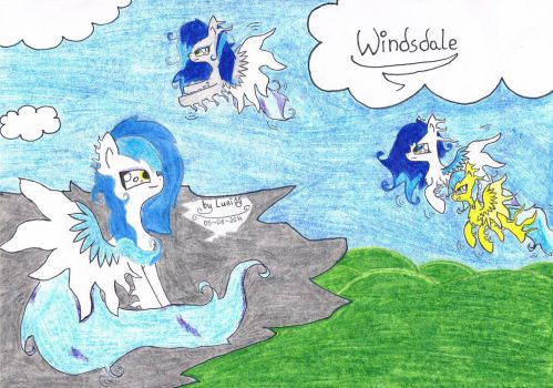 The land of wind-ponies :3 by Luei6