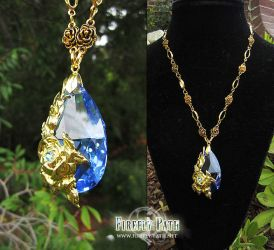 Blue Rose Necklace by Firefly-Path