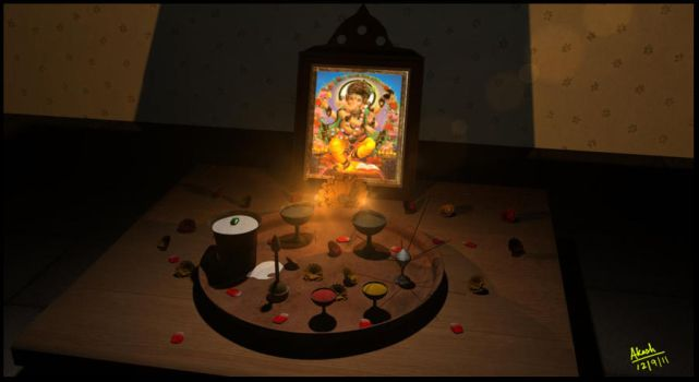 Puja tray by cakash