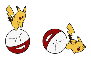 Pikachu's ball by Elenwae