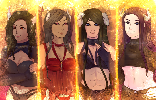 Succubus Queens by FeeX123