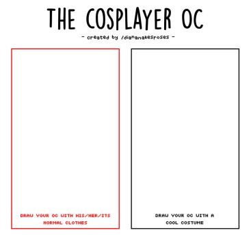 THE COSPLAYER OC [MEME] by lilac-crystals