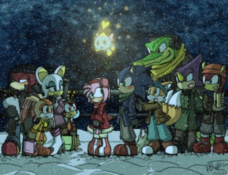 Sonic - Christmas 2007 by Tigerfog