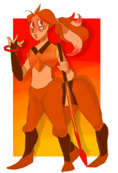 Fire Opal (Fusion Commission) by ChocolateCake222