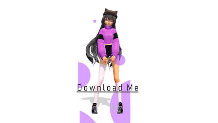 [ MMD x Aphmau ] Hipster Aphmau Model Download! by Krystal-Animations