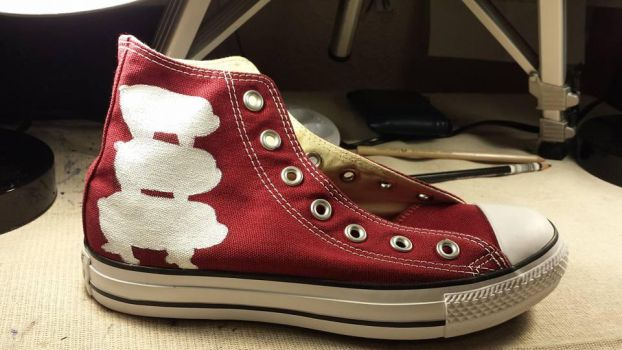 WIP We Bare Bears Right Shoe by rawrdoodles