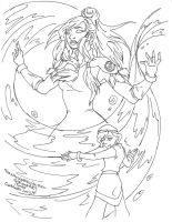Korra's Ascension by SheWhoWalksWithThee