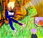 punishing Trunks/el castigo de trunks by greta7777