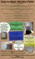 How to Make Recycled Paper by heysugar