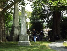 Band in the cemetery by sgath92