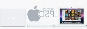 Ibook white Psd + icon + Png by taxO