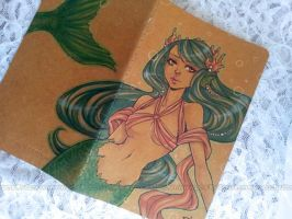 moleskine journal - coral queen + VIDEO by pencil-butter