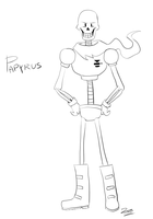 Papyrus sketch by ZorDrawer