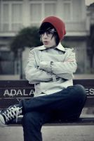 A boy with red hat. by arazugur