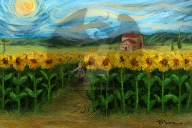 Lonely Boy in the Sunflowers by SOTDcorp