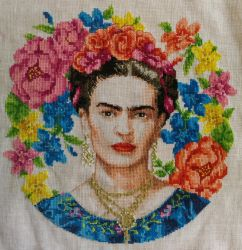 Frida Kahlo Cross Stitch by Tishounette