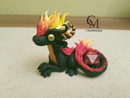 fire dice dragon by claymeeples