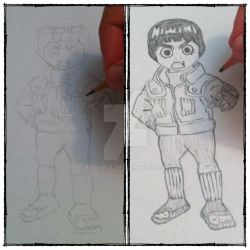 Rock Lee - Chibi by fethica