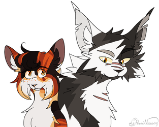 Spottedpaw and Thistleclaw by LePetitNazaire