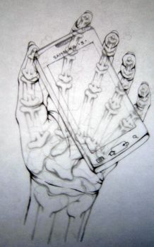 Skeleton and hand contour  overlay by Kristenrockey