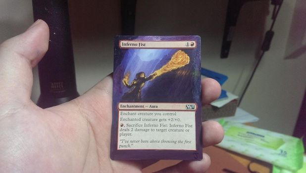 Magic the Gathering Alter - Inferno Fist by ASliceOfUnagi