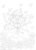 Butterfly .:Lineart:. by Angelic-Blossoms