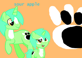 Sour Apple as a pony by theshadowpony357