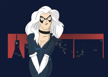 Black Cat Wallpaper (collaborative) by ProjectCornDog