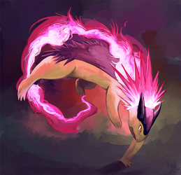 Typhlosion used Flame Wheel! by DrManiacal