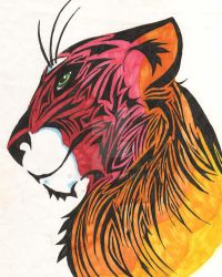 Multi Color Tiger by MLConley