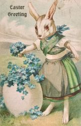 Flower Arranging Easter Bunny by Yesterdays-Paper