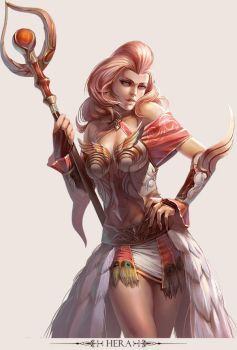 MMO Game Character design  Hera by yuchenghong