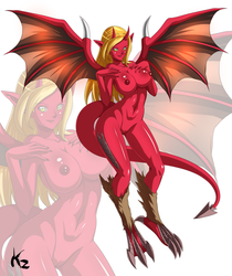 Commission - OC Red Onyx by KazBR