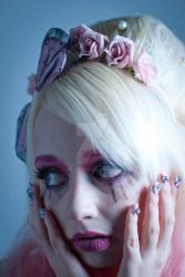 Illamasqua Creepy Doll Transformation 1 by JimmyAmericaPhoto