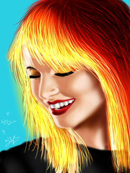 PaintTest2:  Hayley Williams by wLadyB91