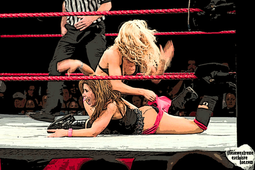 Mickie James butt hanging out by Tiraass