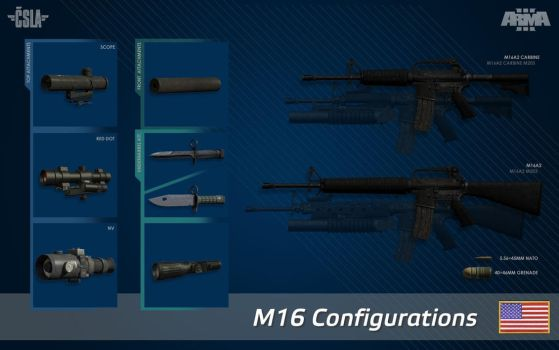 M16 configurations by Yano-t11