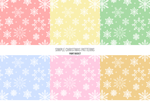 Christmas simple photoshop patterns by PaintBCreations