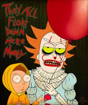AN IT AND RICK AND MORTY MASHUP by HalHefnerART
