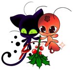 PV Tikki, Plagg and Mistletoe by SEGLDRAWS