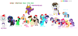 Christmas With The Ponies by cam-and-sister-paint
