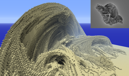Mandelbulb to Minecraft test 3 by Theli-at