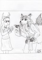 Jack Sparrow as fox - For Olsikowa by miawell1990