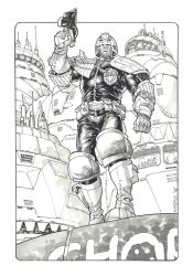 Judge Dredd by StazJohnson